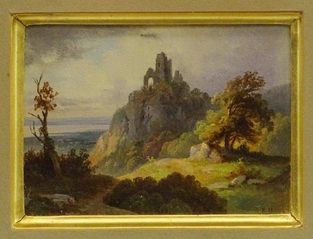 Lot 79: 19th c. Landscape Signed BH