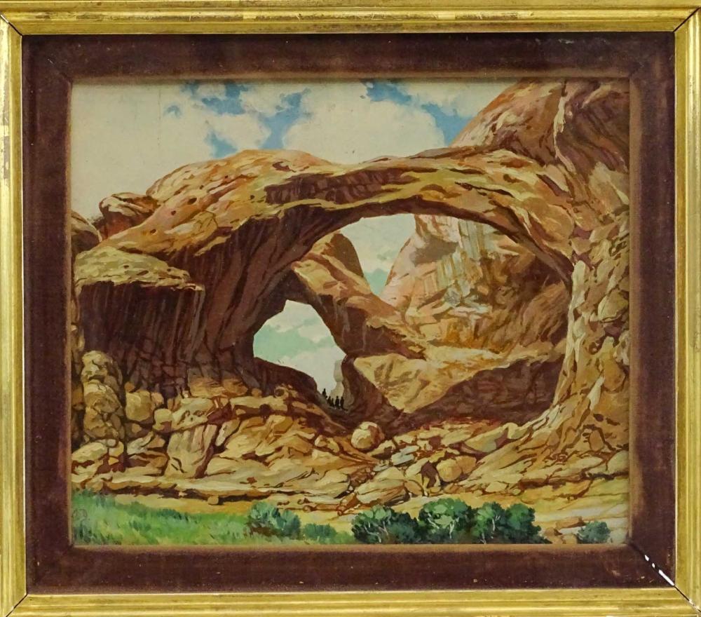 Lot 81: Painting, Western Landscape