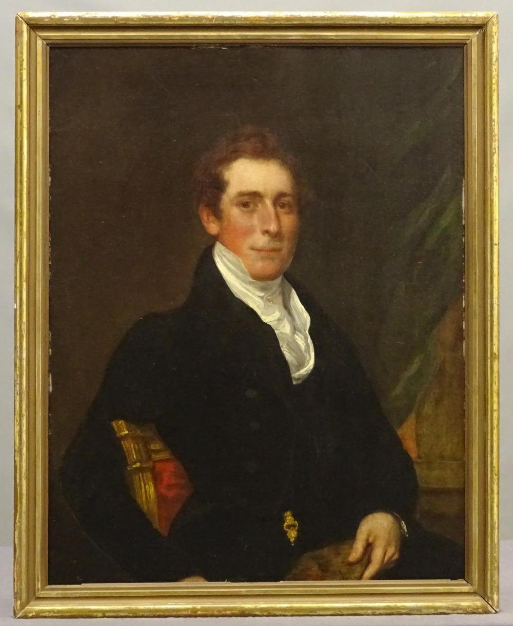 19th c. American School, Portrait Of A Gentleman