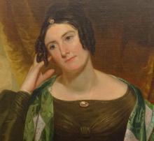 Lot 86: 19th c. Portrait Of A Woman