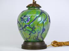 Lot 94: Art Glass Lamp
