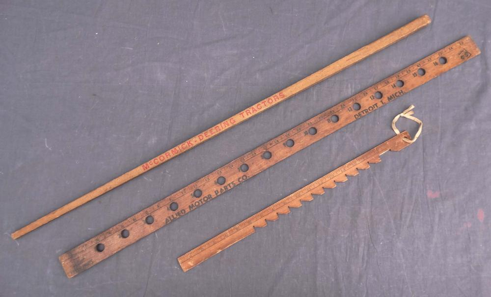 Early Rulers, One Signed McCormick-Deering