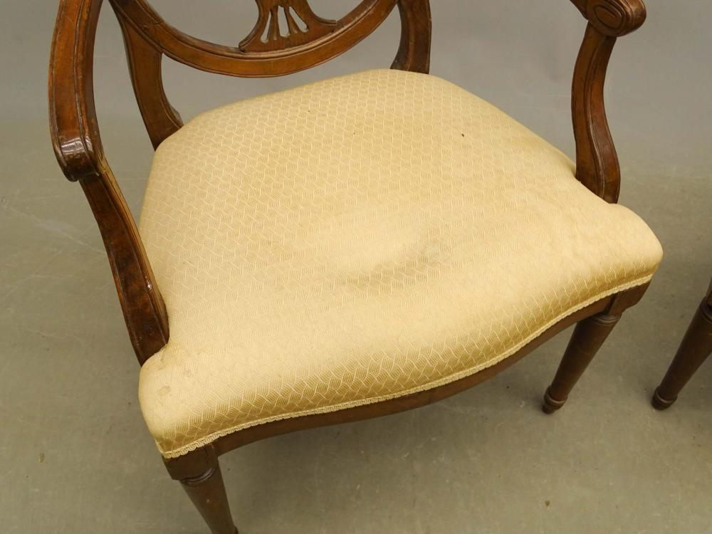 Lot 119: Pair 19th c. Hepplewhite Chairs