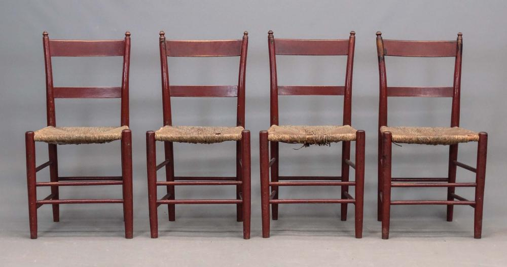 Set (4) 19th c. Chairs