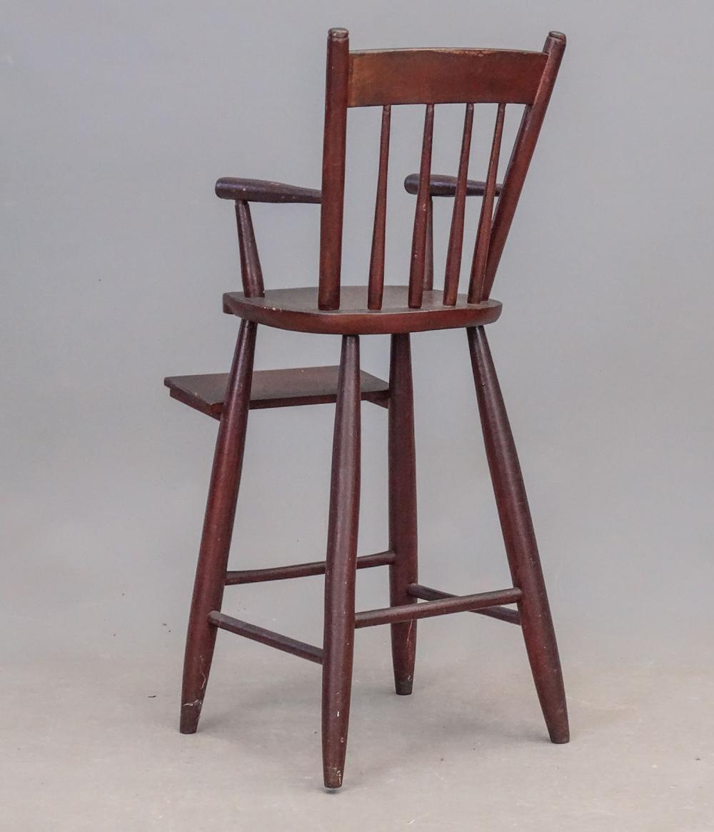 Lot 125: 19th c. Rod Back Windsor Chair