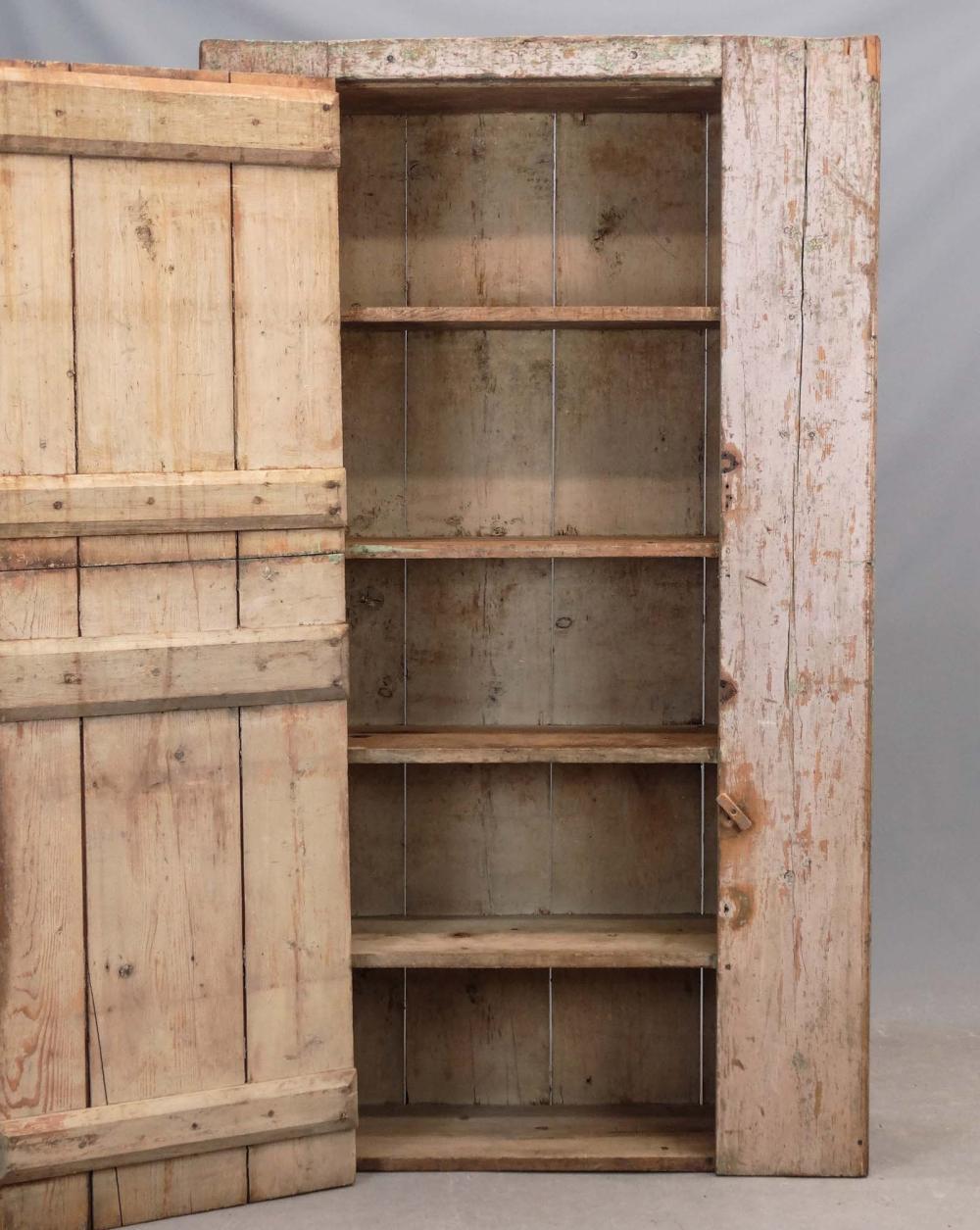 Lot 127: 19th c. Wall Cupboard