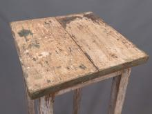 Lot 128: Primitive Ladder Stool