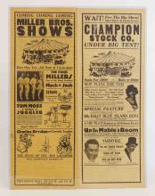 Lot 141: C. 1930's Circus Broadsides