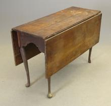 Lot 145: 18th c.. Queen Anne Dropleaf Table