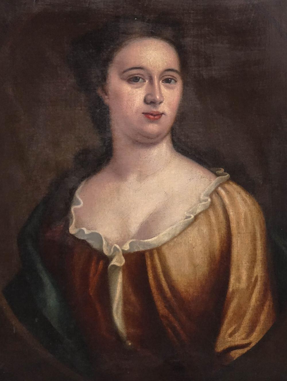 18th c. Portrait Of A Woman