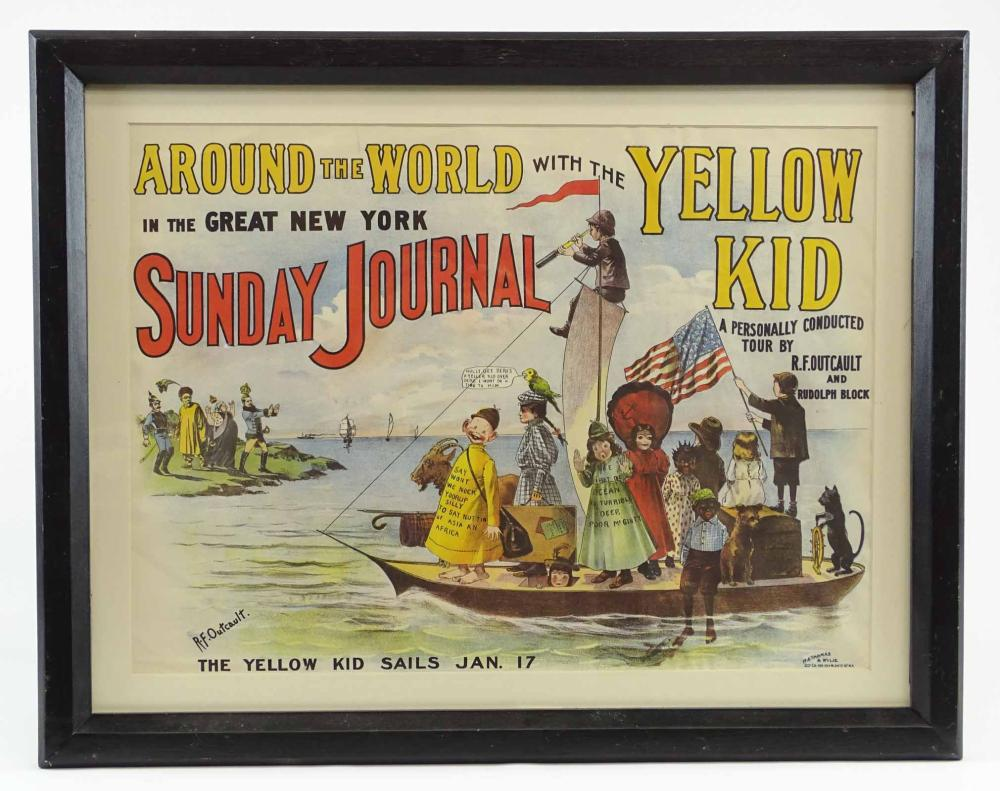 Early Yellow Kid Sunday Journal Poster
