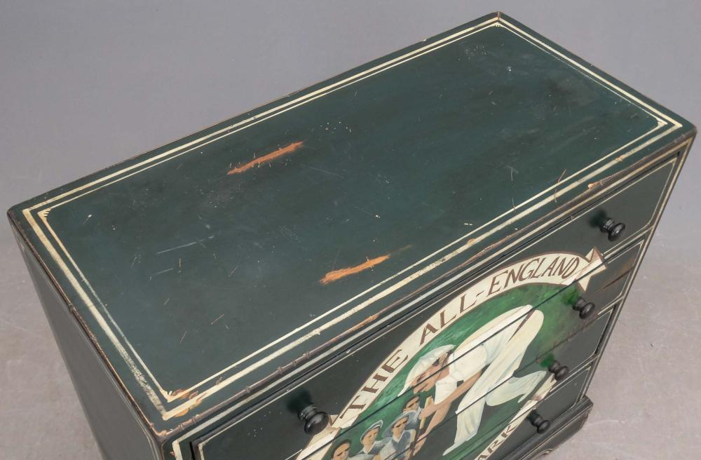 Lot 159: Paint Decorated Chest Of Drawers