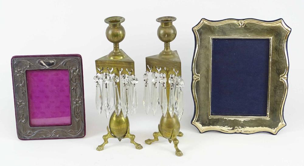 Frame & Candlestick Lot