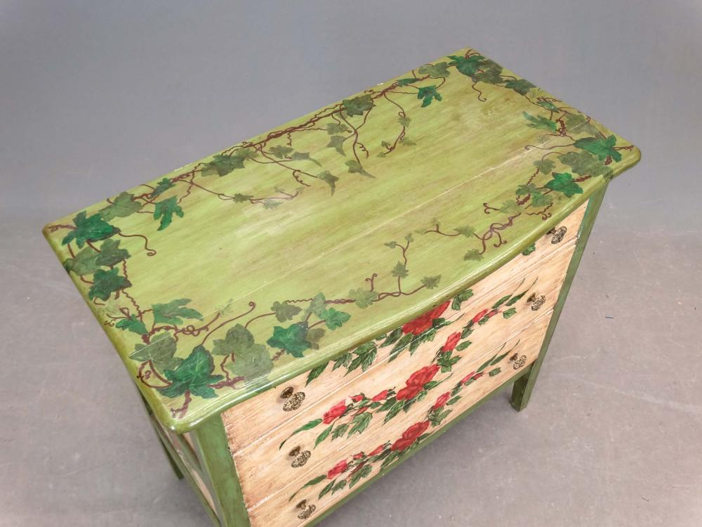 Lot 173: Paint Decorated Chest Of Drawers