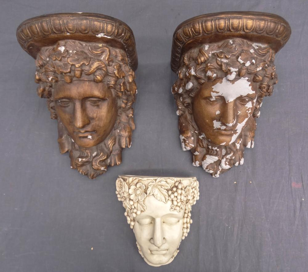 Neo-Classical Style Wall Pockets