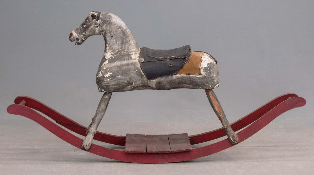Lot 177: 19th c. Rocking Horse