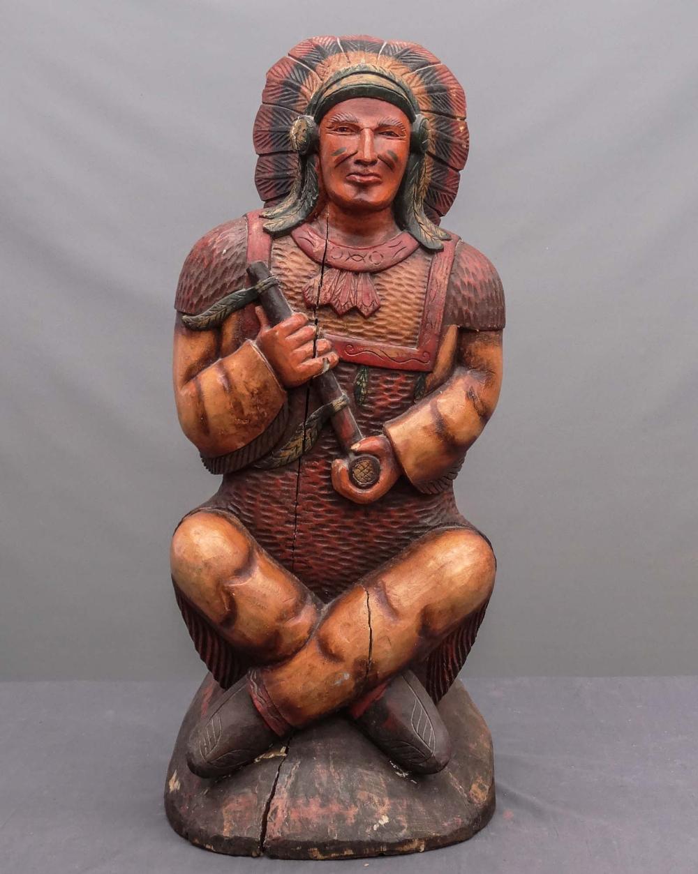 Native American Cigar Store Figure