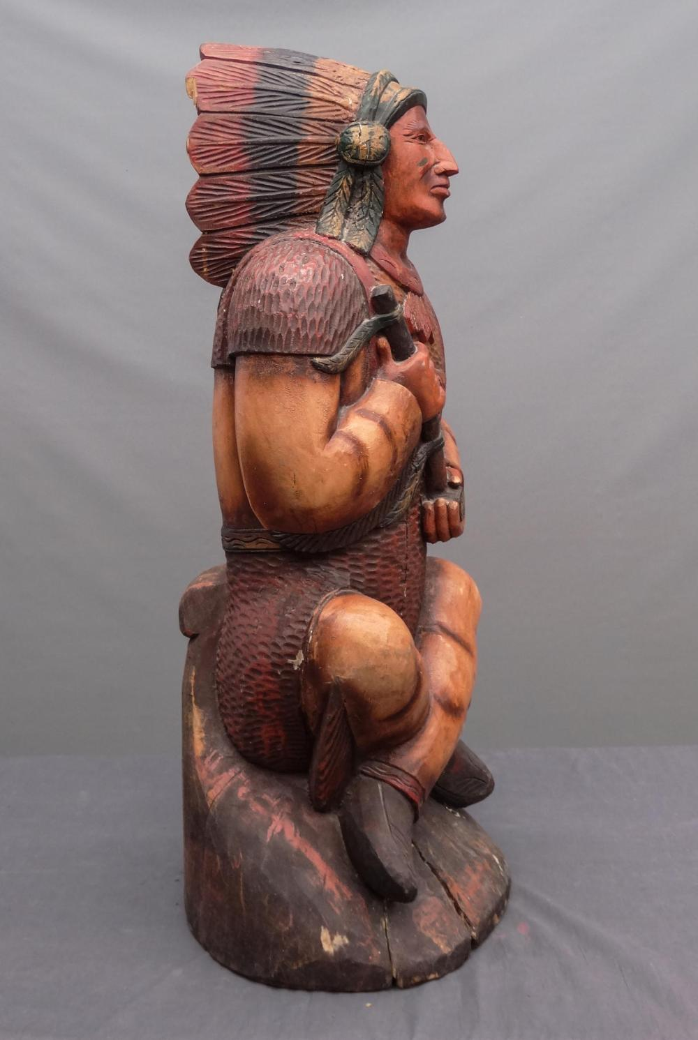 Lot 178: Native American Cigar Store Figure