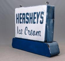 Lot 186: Vintage Hersheys Ice Cream Sign