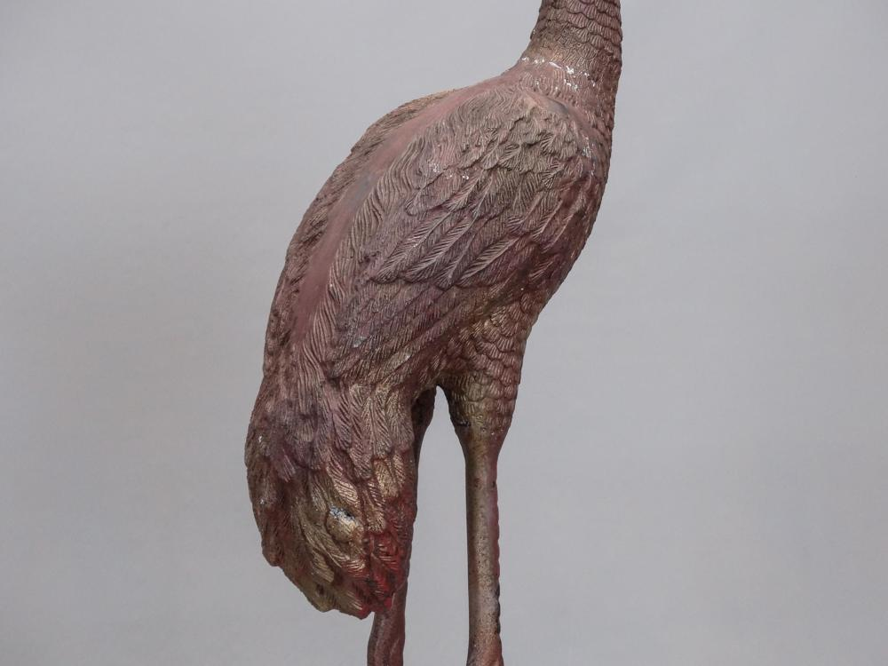 Lot 187: Pair Cast Metal Storks