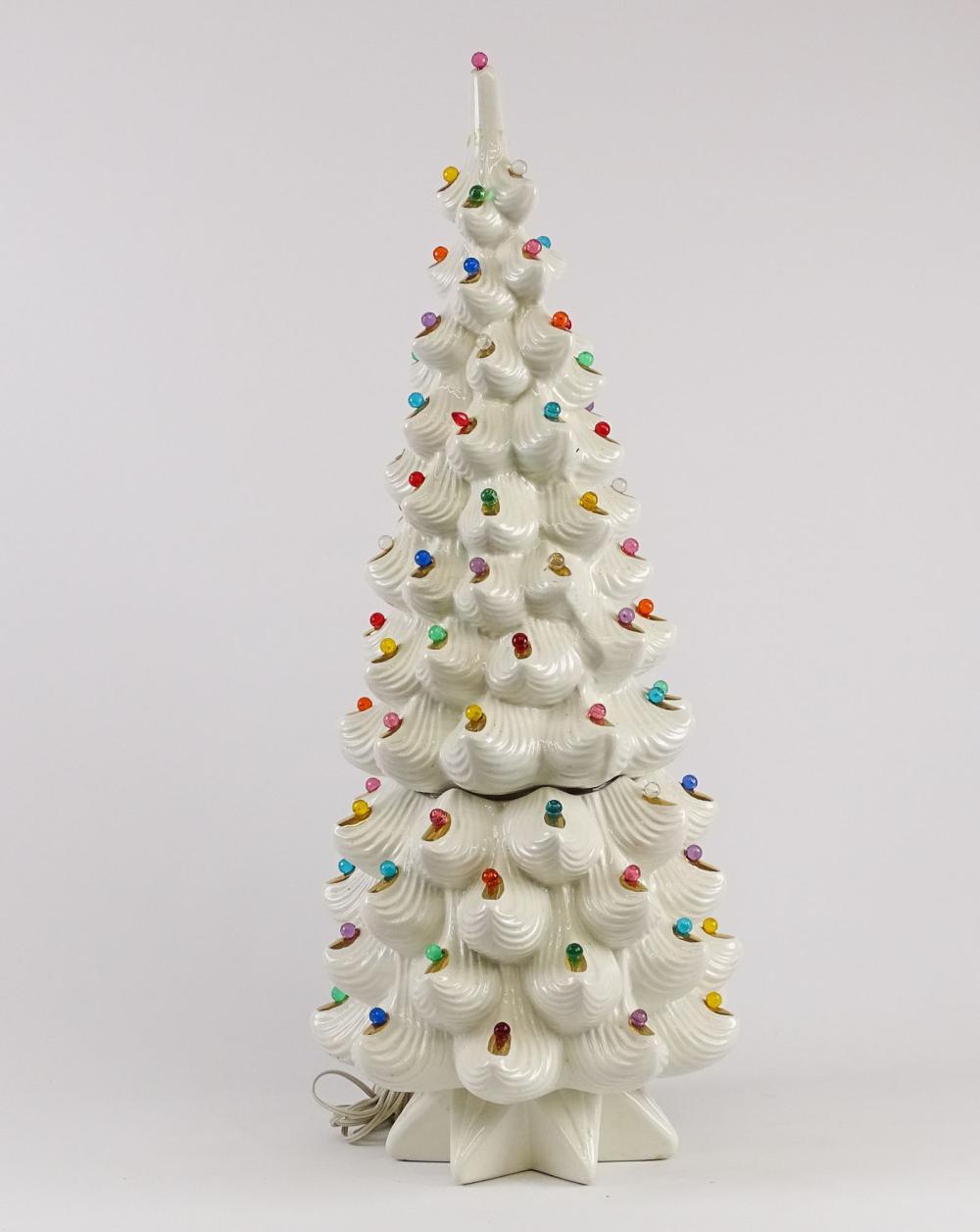 Vintage Light Up Ceramic Christmas Tree