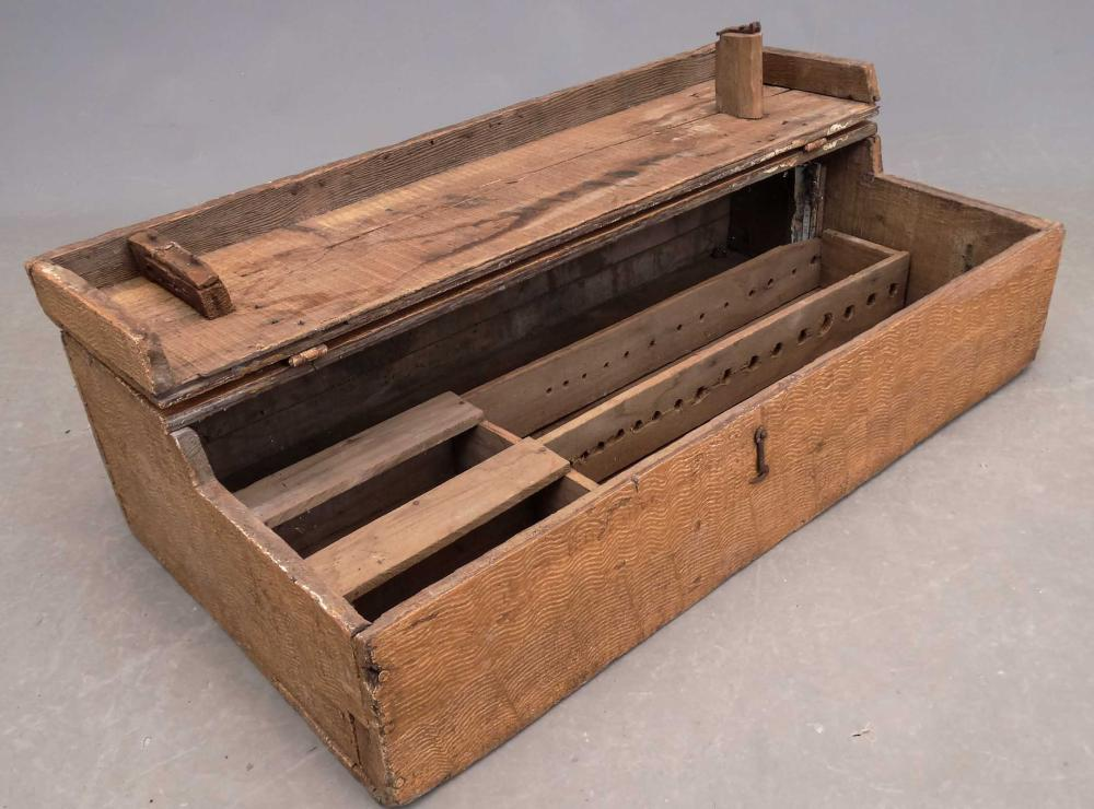 Lot 194: 19th c. Paint Decorated Box