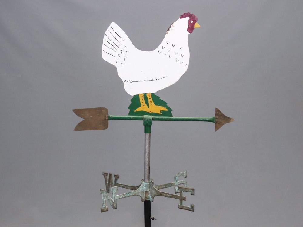 Lot 195: Sheet Metal Chicken Weathervane