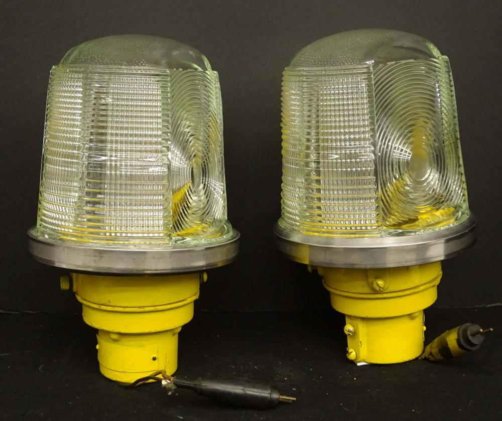 Pair Crouse Industrial Lights