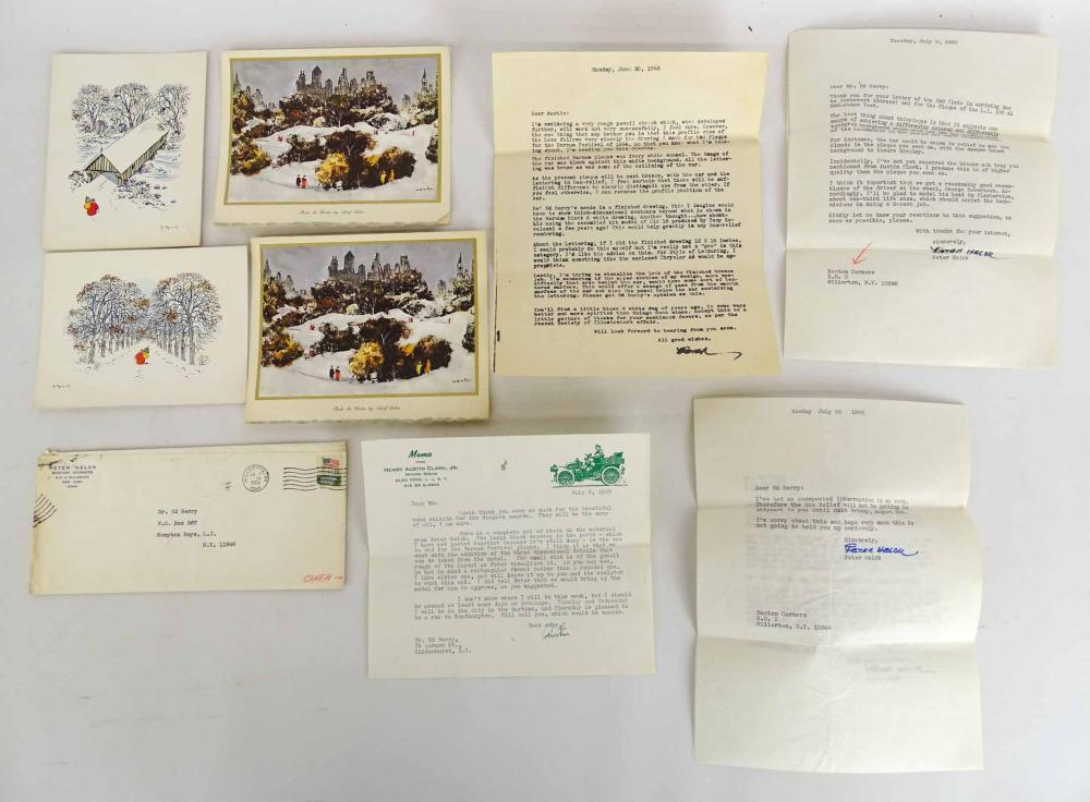 Peter Helck Christmas Card & Letter Lot