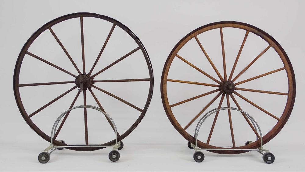 Pair Old Hickory Wheels