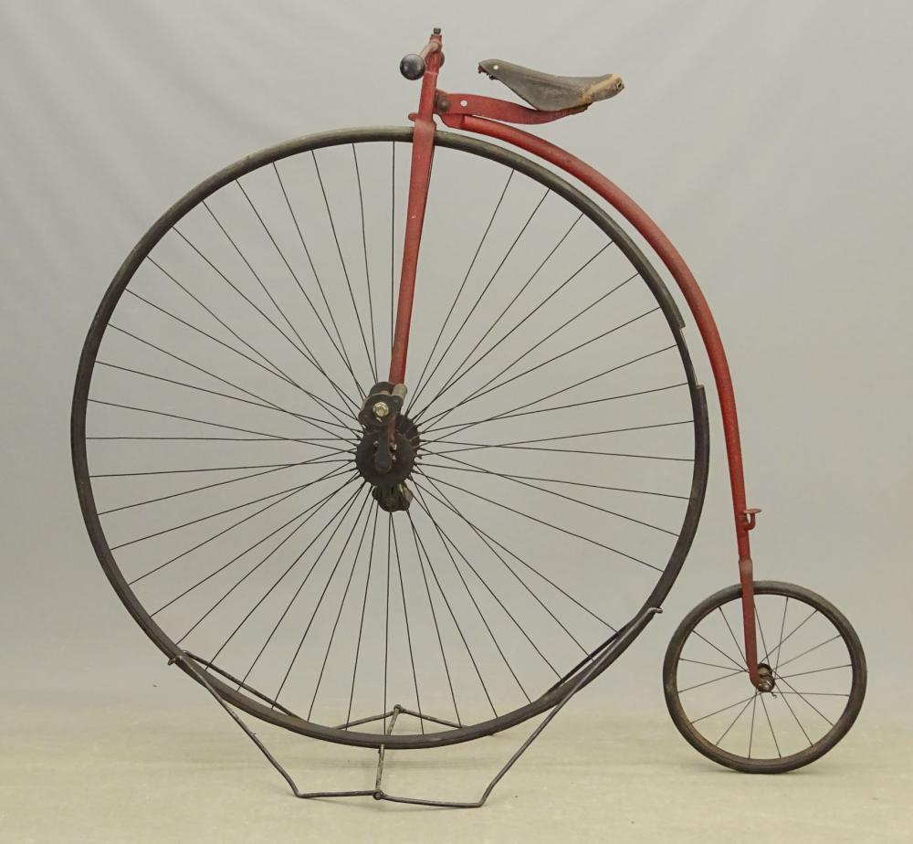"C. 1880's 50"" High Wheel Bicycle"