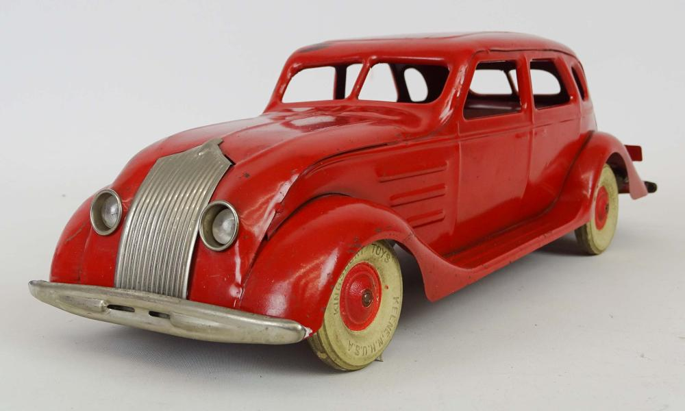 Kingsbury Pressed Steel Chrysler Airflow Toy Car