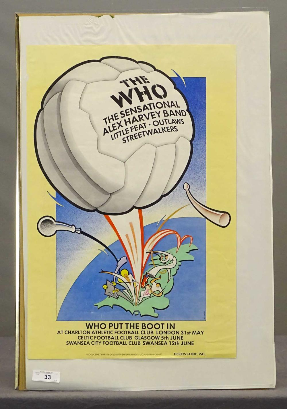 The Who Concert Poster