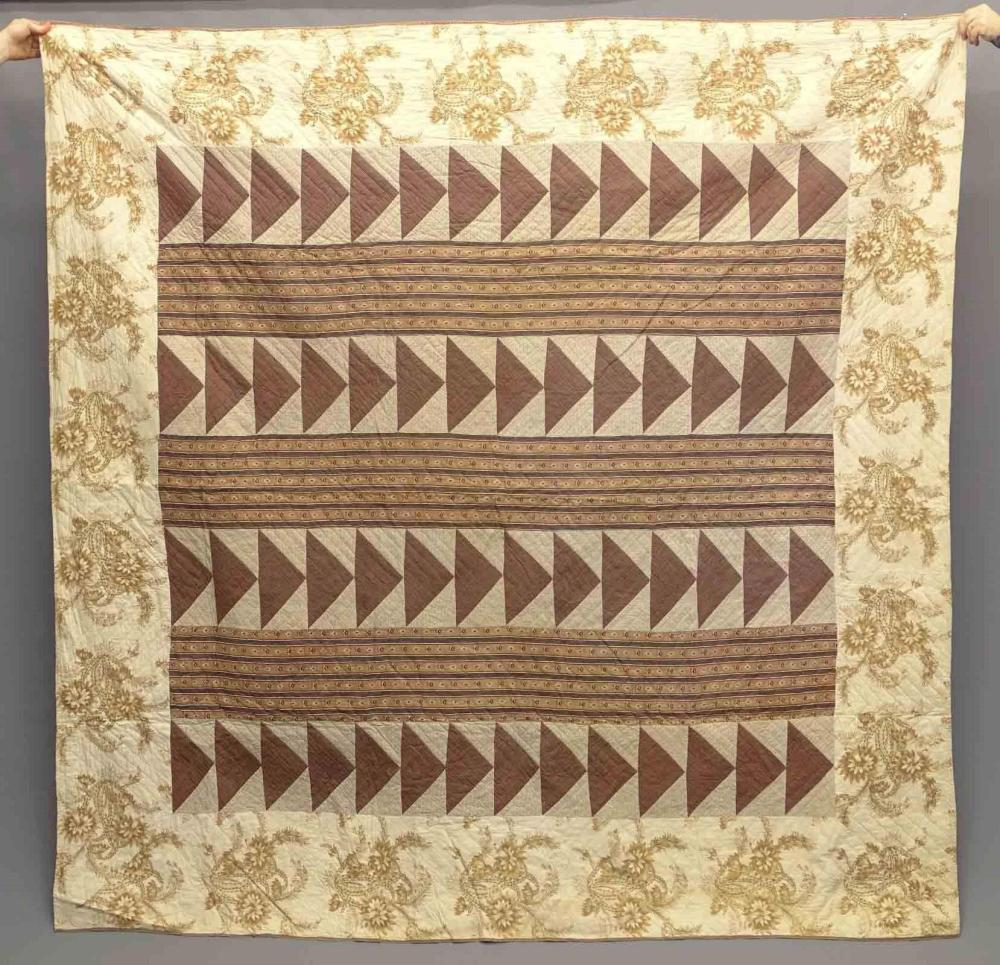 19th c. Flying Geese Quilt