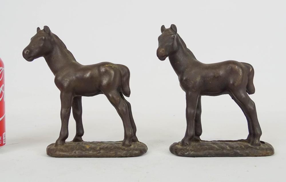 Pair Labeled Littco Horse Bookends