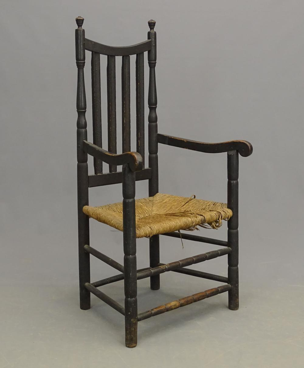 18th c. Banister Back Armchair