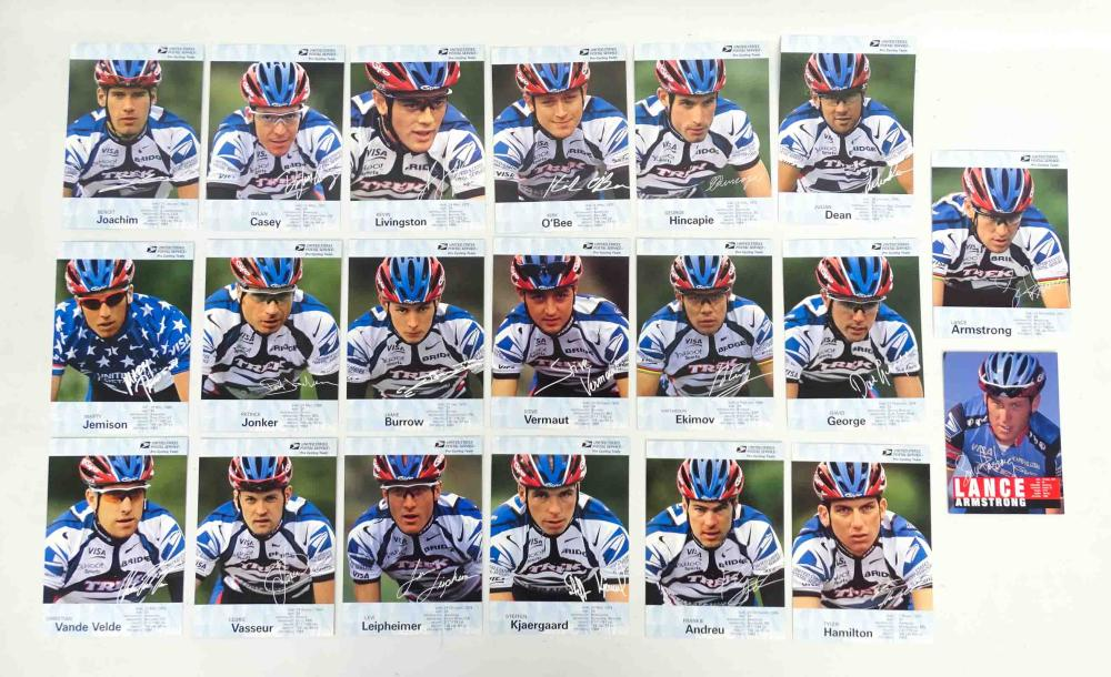 United States Postal Service Official Team Cards