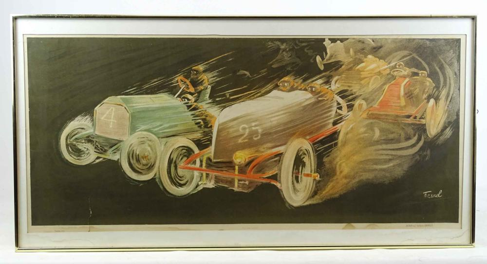 French Racing Car Print