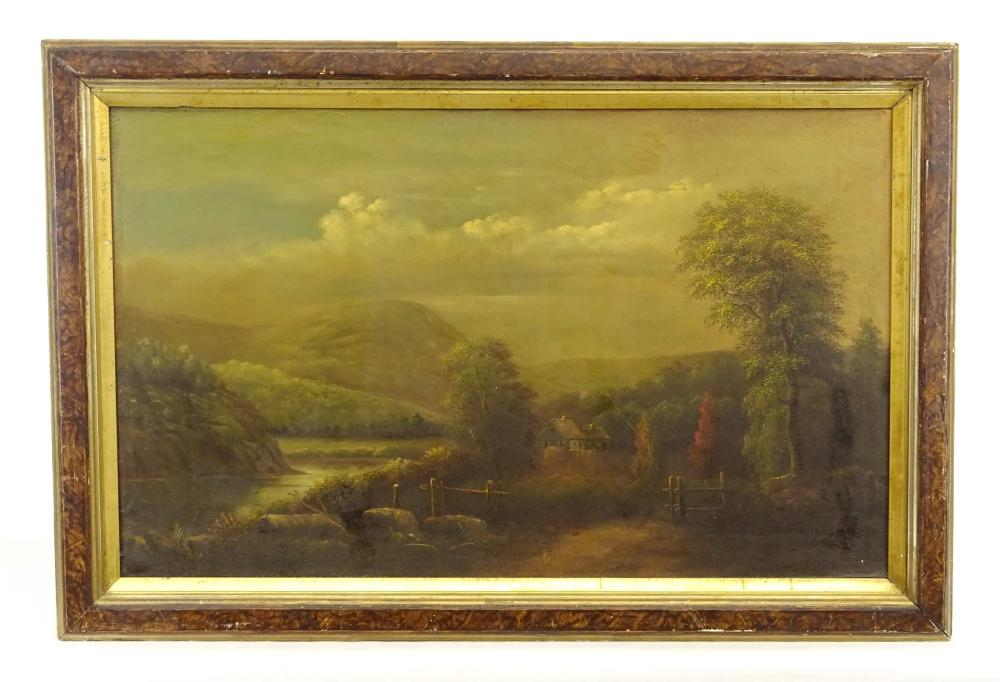 19th c. Hudson River School, Landscape