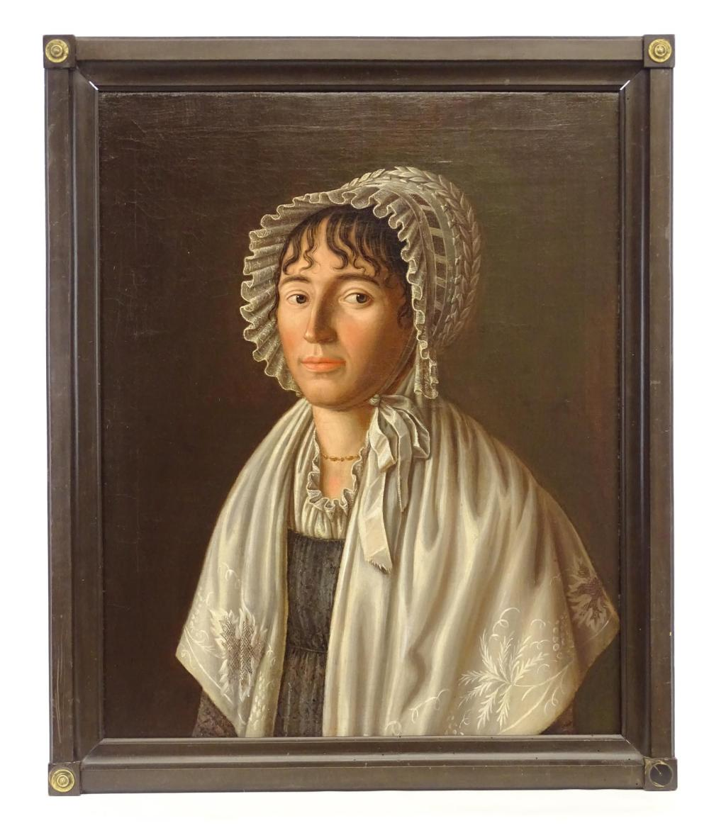 French School, Empire Portrait Of A Woman