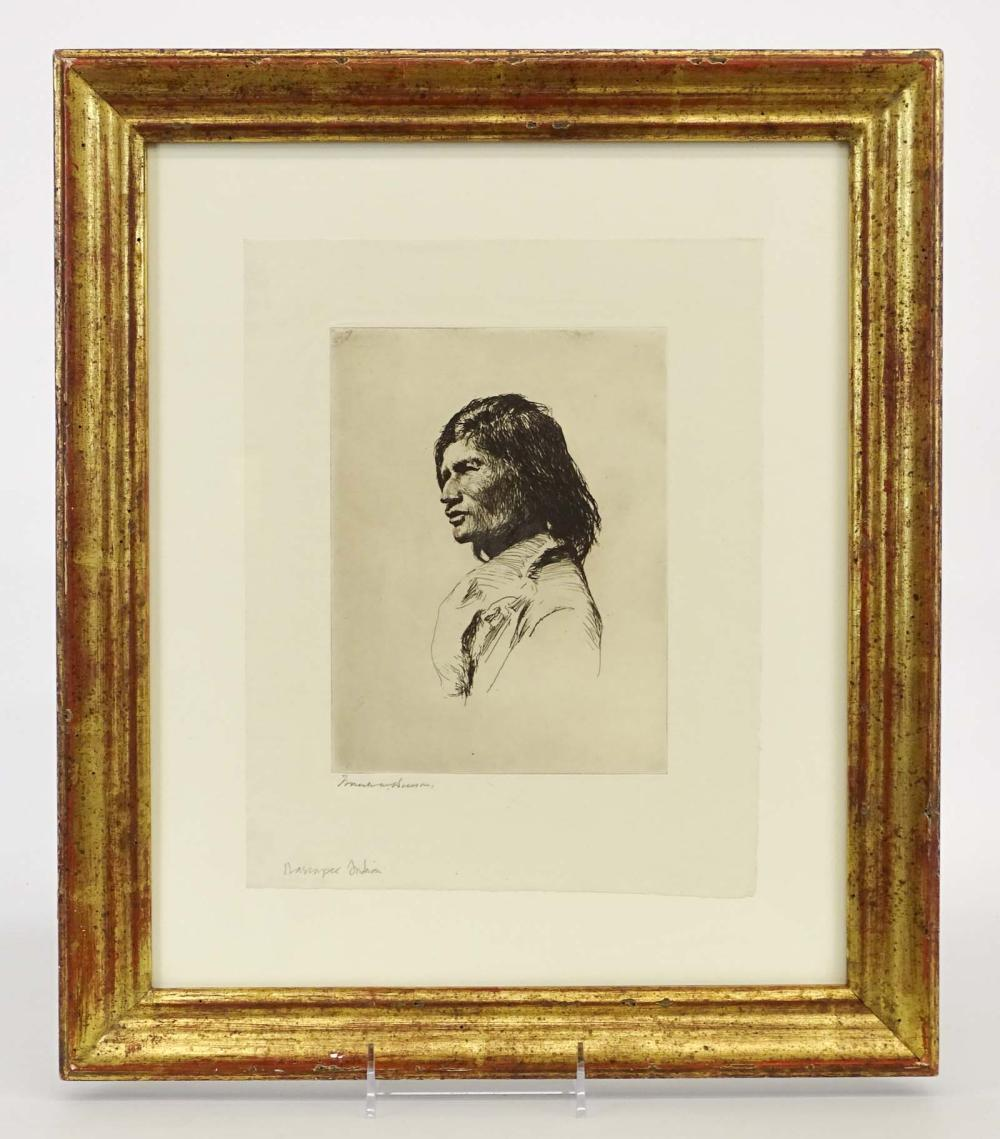 Frank Benson (1862-1951), Nascapee Indian