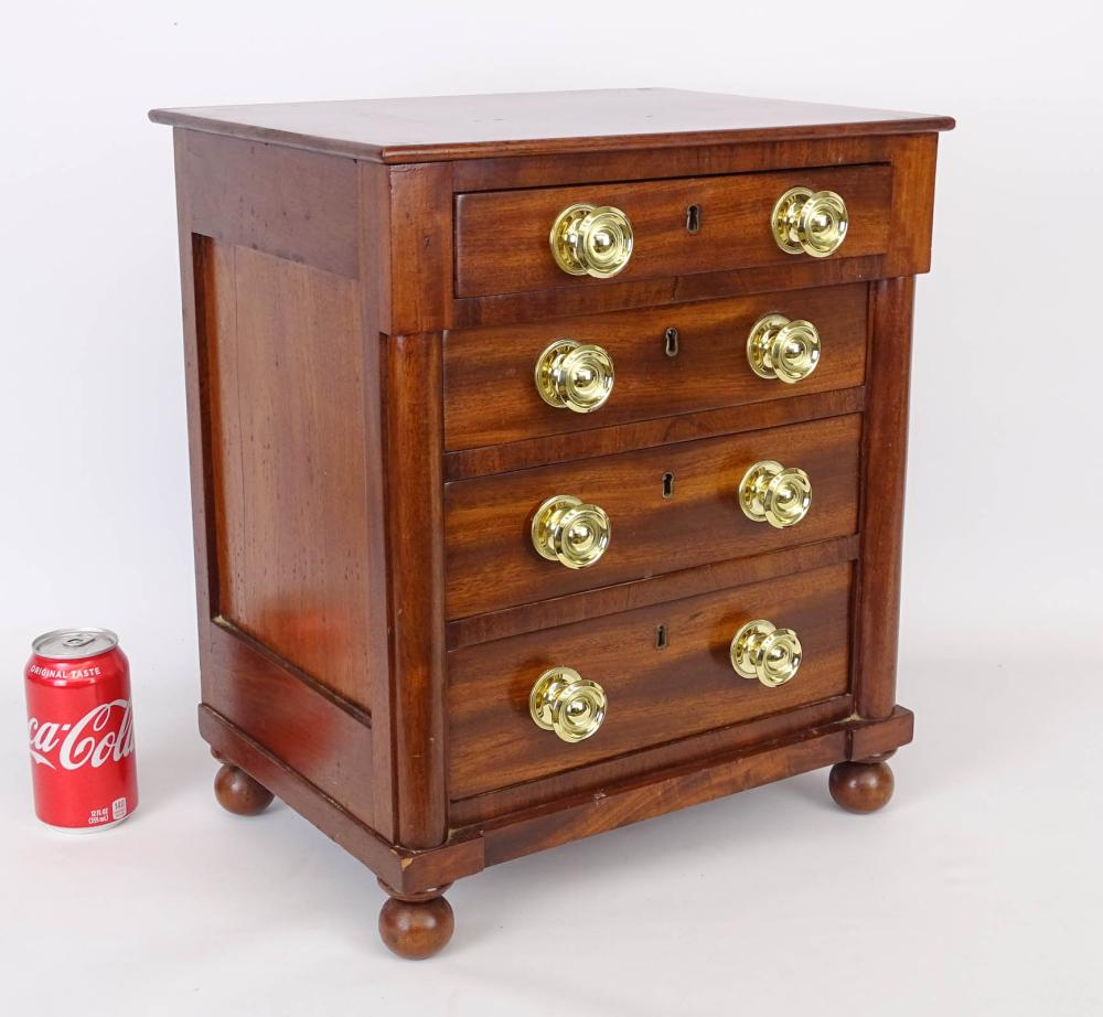 19th c. Miniature Chest Of Drawers