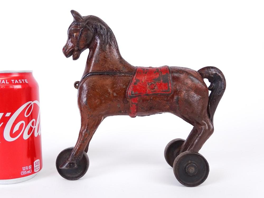 Cast Iron Horse Pull Toy