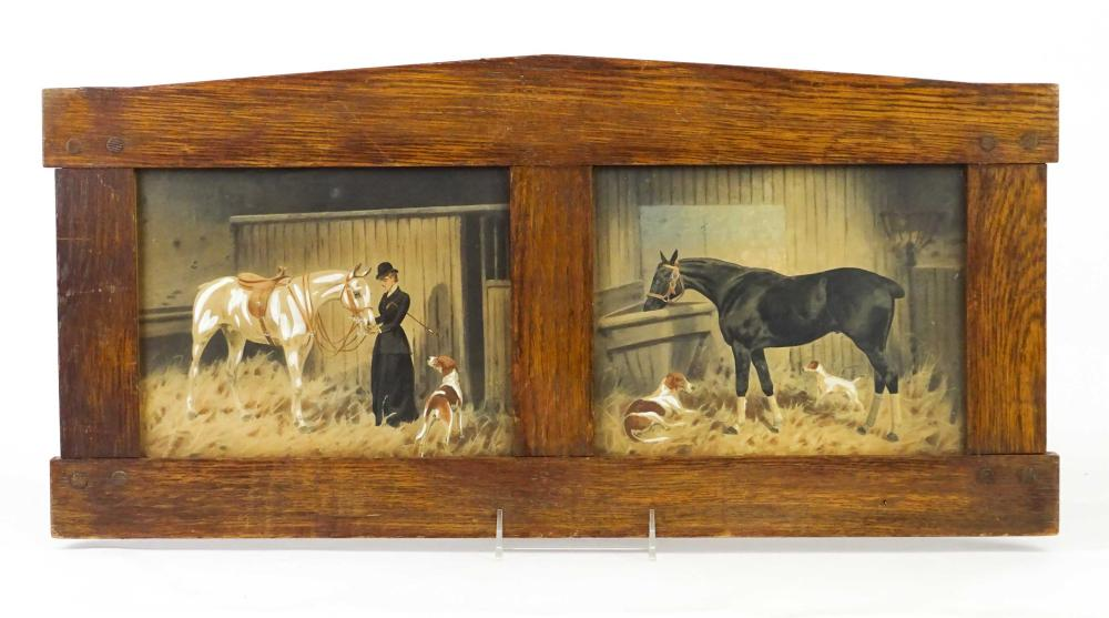 American School, Stable Scene With Horses