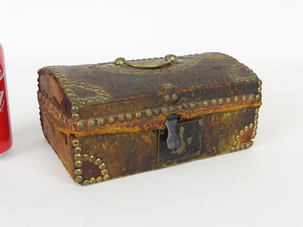 19th c. Leather Covered Box