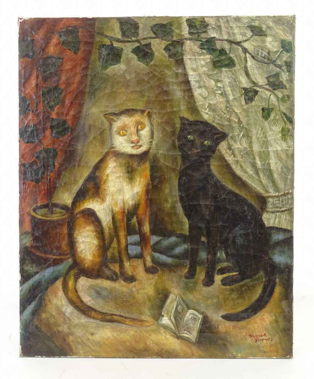 19th c. Cat Painting