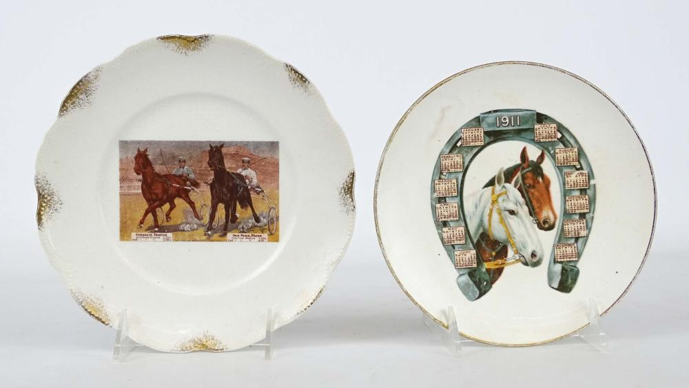 Early Porcelain Horse Plates
