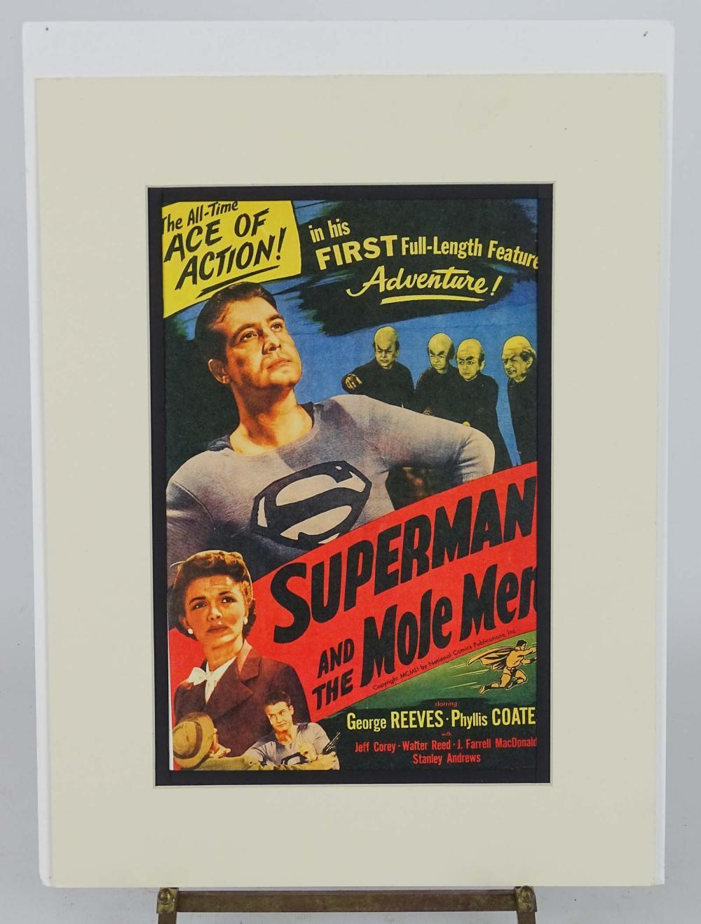 Superman Art Lithograph Display