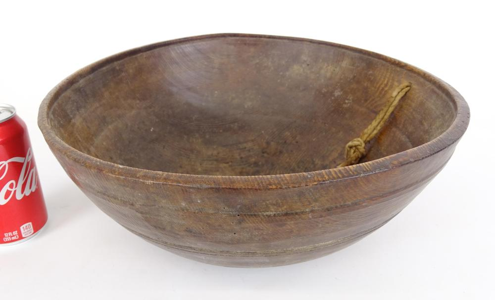 19th c. Turned Wooden Bowl