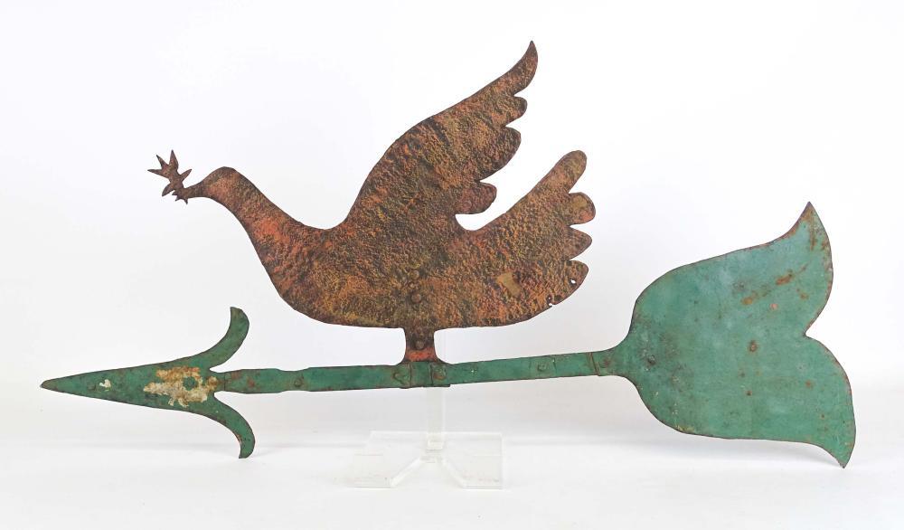 Peace Dove Sheet Metal Weathervane